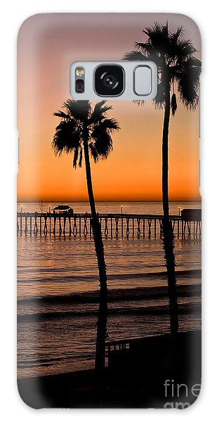 T Street Pier San Clemente California From The Book My Ocean Galaxy Case by Artist and Photographer Laura Wrede