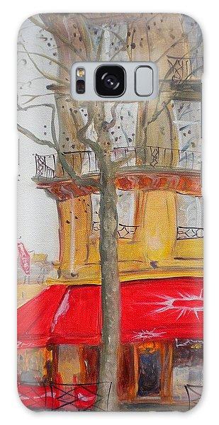 Street Cafe Galaxy Case - Tabac, 2010 Oil On Canvas by Antonia Myatt