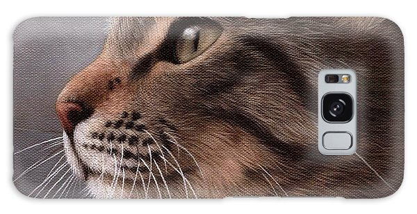 Tabby Cat Painting Galaxy Case