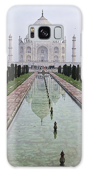 Taj Mahal Early Morning Galaxy Case by John Hansen