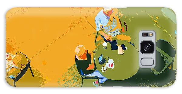 Street Cafe Galaxy Case - Take A Break by Nancy Merkle