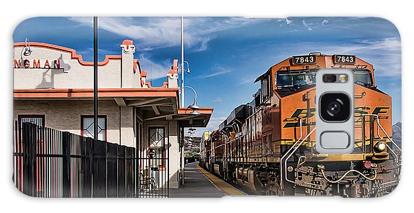 Taking The Train At The Kingman Station Galaxy Case by Priscilla Burgers