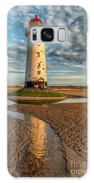 Lighthouse Galaxy Case - Talacre Lighthouse Sunset by Adrian Evans