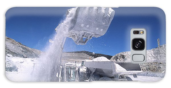 Excavator Galaxy Case - Talc Quarrying Machines by Philippe Psaila/science Photo Library