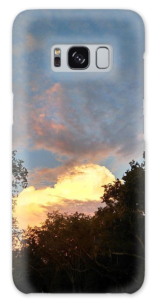 Talking Clouds Galaxy Case by Jean Marie Maggi