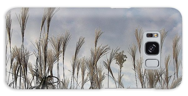 Tall Grasses And Blue Skies Galaxy Case