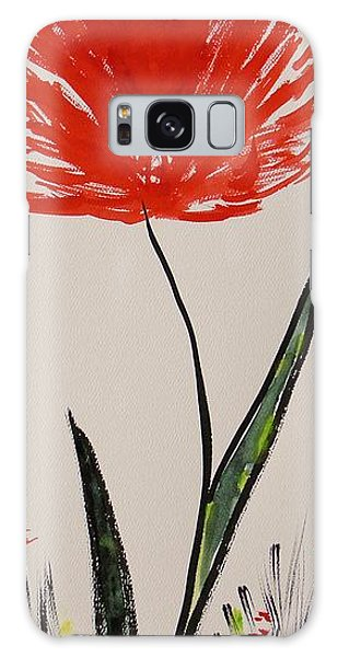 Tall Red Wildflower Galaxy Case
