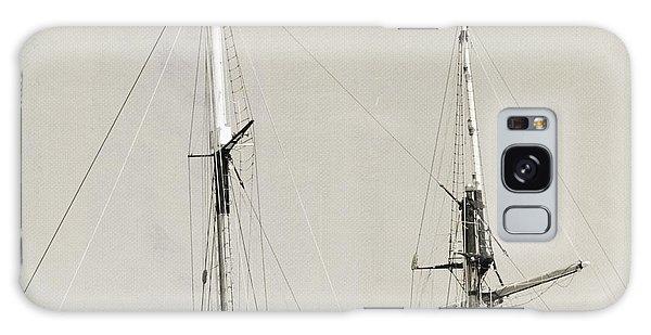 Tall Ship At Dock Galaxy Case by Barbara Bardzik