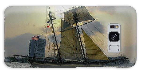 Tall Ship In Charleston Galaxy Case by Dale Powell