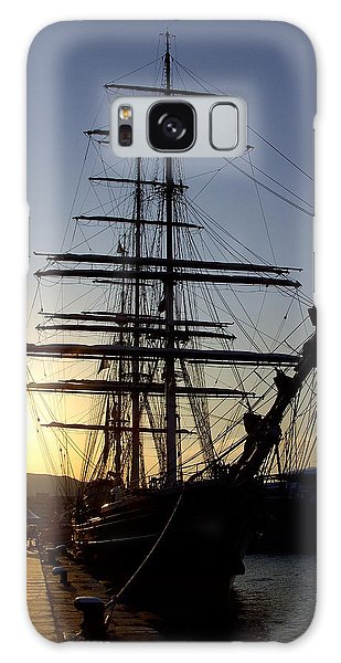 Tall Ship In Ibiza Town Galaxy Case