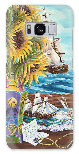 Tall Ships And Sunflowers Galaxy Case