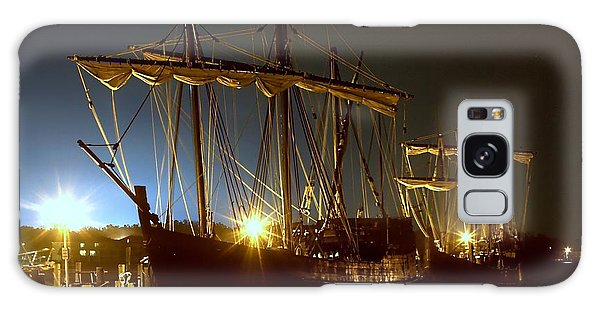 Tall Ships Galaxy Case by Debra Forand