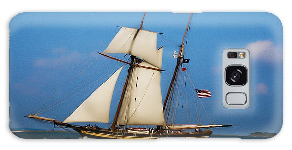 Tall Ships Over Charleston Galaxy Case by Dale Powell