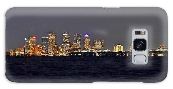 Tampa City Skyline At Night 7 November 2012 Galaxy Case by Jeff at JSJ Photography