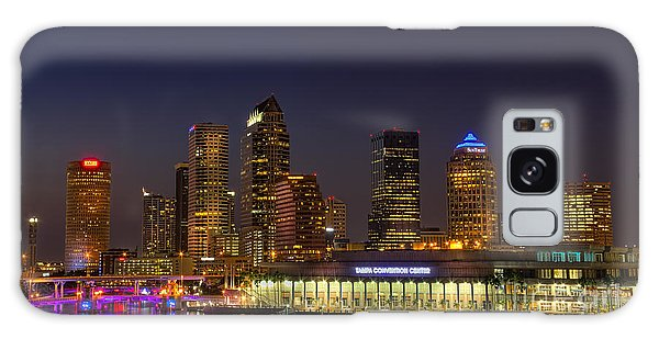 Tampa Lights At Dusk Galaxy Case by Marvin Spates