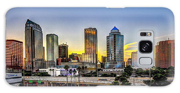 Tampa Skyline Galaxy Case by Marvin Spates