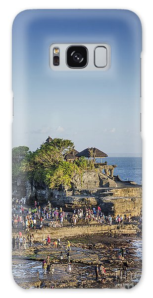 Tanah Lot Temple In Bali Indonesia Coast Galaxy Case