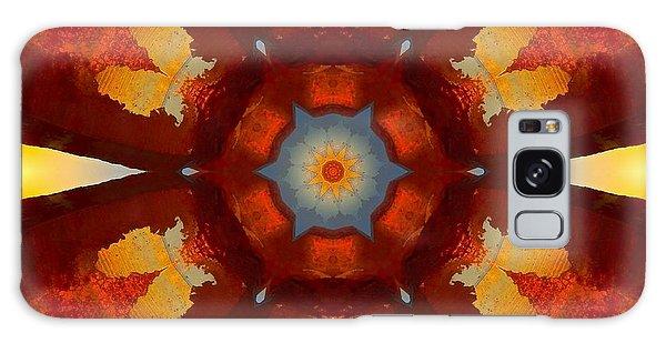 Tangerine Sunset Crystal Mandala Galaxy Case