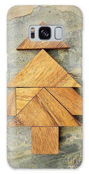tangram Christmas tree Galaxy Case