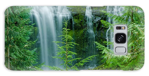 Pacific Northwest Waterfall Galaxy Case by Nick  Boren