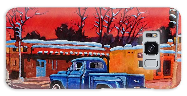 Taos Blue Truck At Dusk Galaxy Case