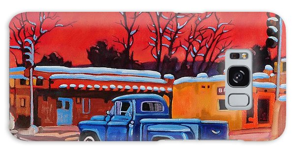 Taos Blue Truck At Dusk Galaxy Case