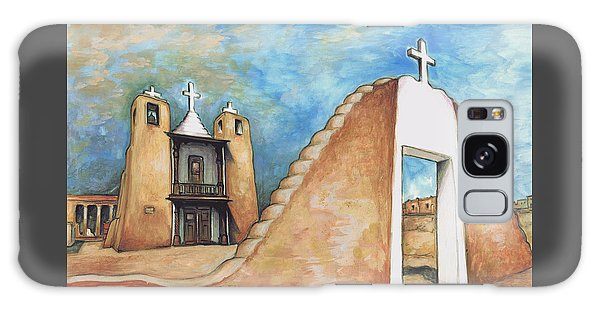 Taos Pueblo New Mexico - Watercolor Art Galaxy Case
