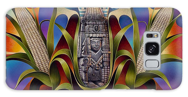 Tapestry Of Gods - Chicomecoatl Galaxy Case