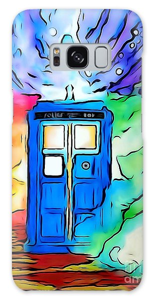 Tardis Illustration Edition Galaxy Case by Justin Moore