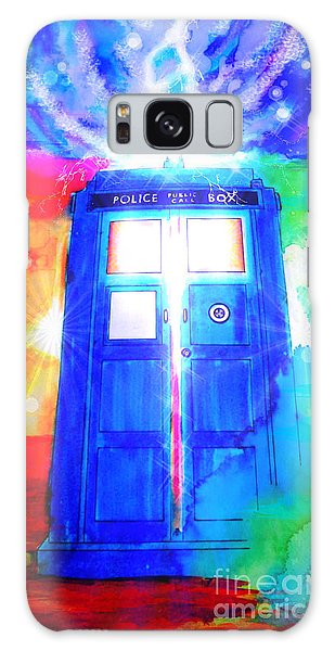 Tardis Galaxy Case by Justin Moore