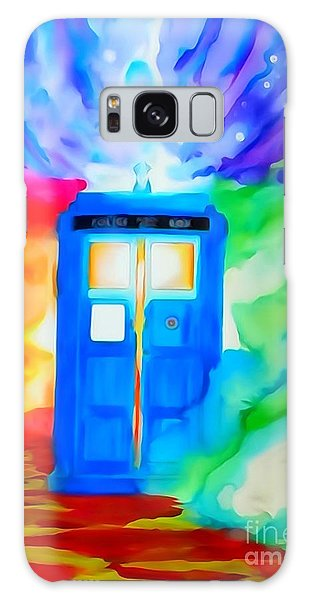 Tardis Watercolor Edition Galaxy Case by Justin Moore