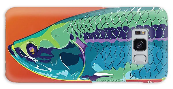 Fish Galaxy S8 Case - Tarpon Colors by Kevin Putman