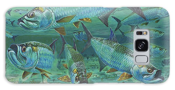 Tarpon Rolling In0025 Galaxy Case by Carey Chen