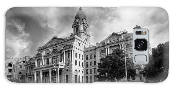 Galaxy Case featuring the photograph Tarrant County Courthouse Bw by Joan Carroll