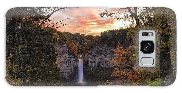 Taughannock Falls Autumn Sunset Galaxy Case