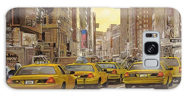 People Galaxy Case - taxi a New York by Guido Borelli