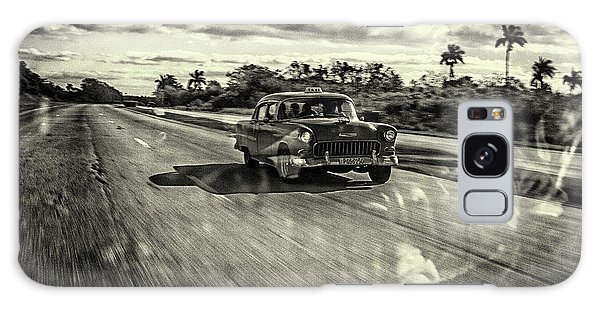 Old Road Galaxy Case - Taxi Havana by Marc Limbach
