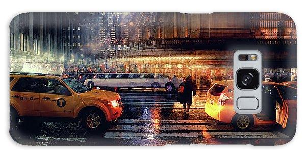 New York City Taxi Galaxy Case - Taxi by Massimo Della Latta