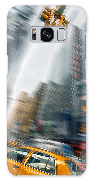 New York City Taxi Galaxy Case - Taxi On Times Square by Delphimages Photo Creations