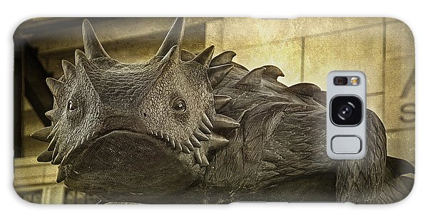 Galaxy Case featuring the photograph Tcu Horned Frog by Joan Carroll