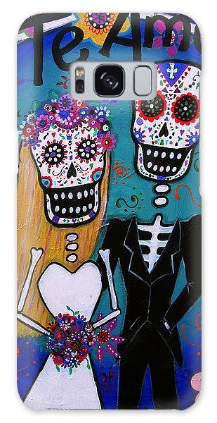 Te Amo Wedding Dia De Los Muertos Galaxy Case
