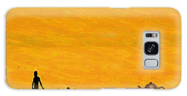 Tea And Oranges Galaxy Case by Mojo Mendiola