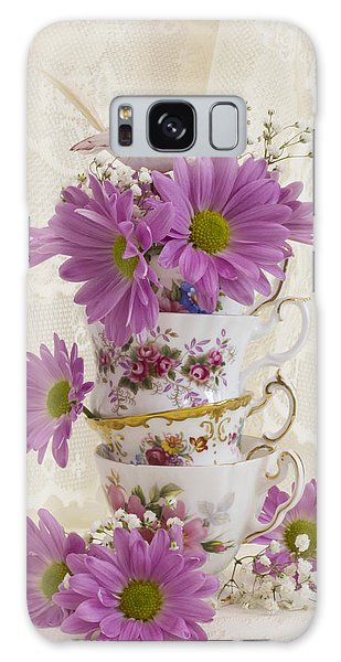 Tea Cups And Daisies  Galaxy Case