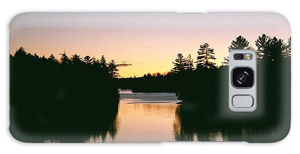 Tea Lake Sunset Galaxy Case by David Porteus