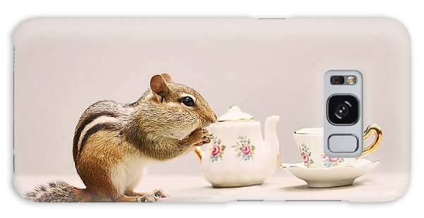 Tea Party With Chipmunk Galaxy Case by Peggy Collins