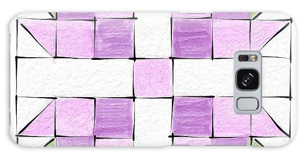 Tea Rose Quilt Block Galaxy Case