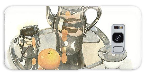 Tea Service With Orange Galaxy Case
