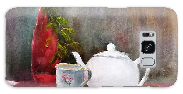Tea Time - Still Life Galaxy Case