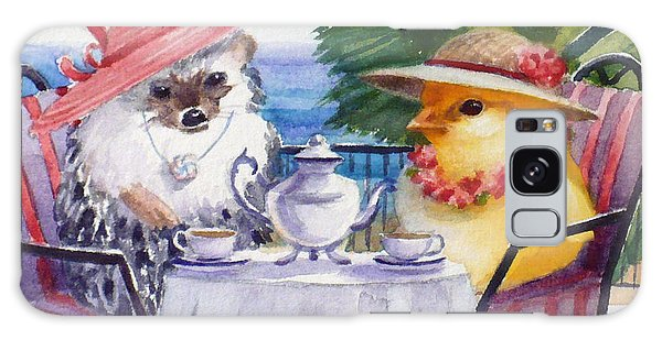 Tea Time For A Baby Chick And Hedgehog Galaxy Case