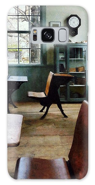 Teacher - One Room Schoolhouse With Clock Galaxy Case